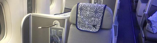 In der Boeing 767-300 setzt Air Astanas Business Class Maßstäbe