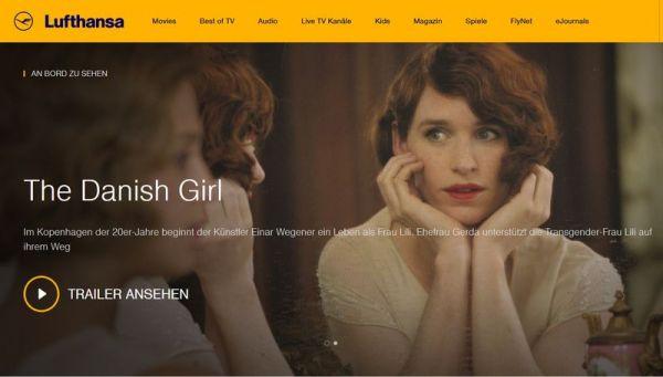 Lufthansa IFE-Website