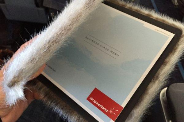 Air Greenland Business Class Menu