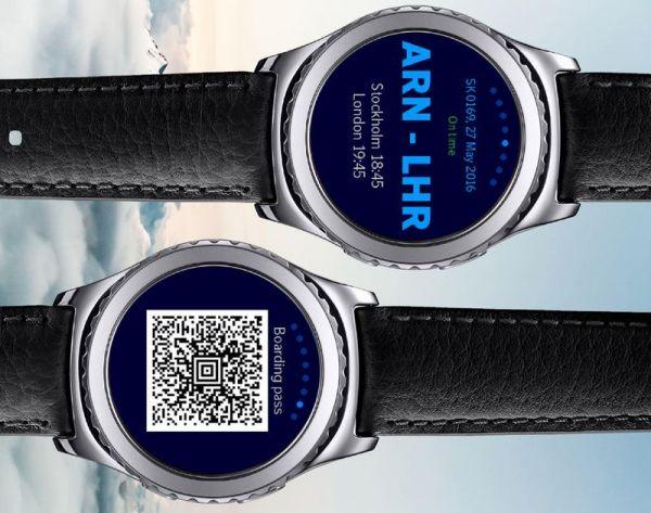 SAS App auf Samsung Gear 2