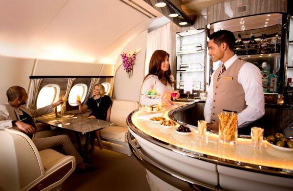 Neuer A380 Loungebereich bei Emirates